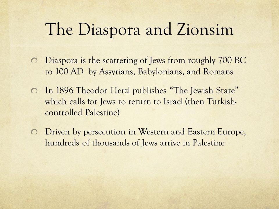 The Diaspora and Zionsim