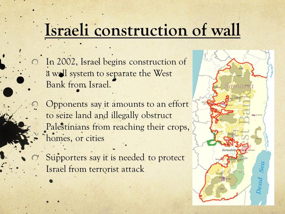 Israeli construction of wall