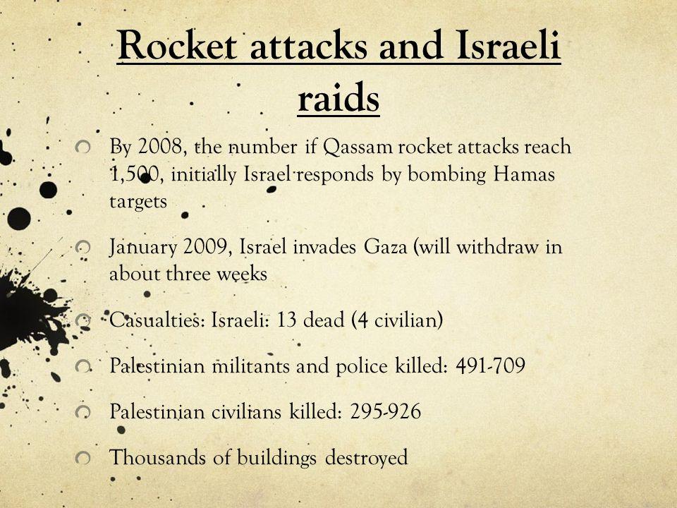 Rocket attacks and Israeli raids