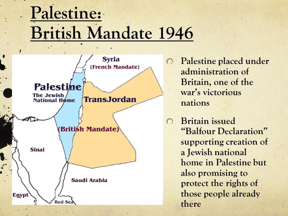 Palestine: British Mandate 1946