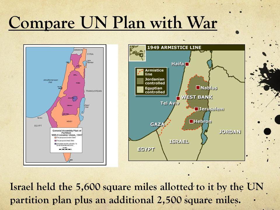 Compare UN Plan with War