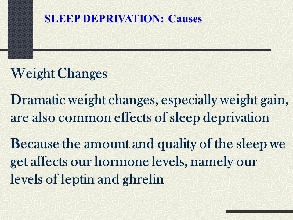 cause and effect essay sleep deprivation Essay effects of sleep deprivation in-laboratory assessing sleep's effect on of sleep in high school students essay that take several hours and cause them.