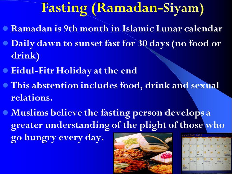 Fasting (Ramadan-Siyam)