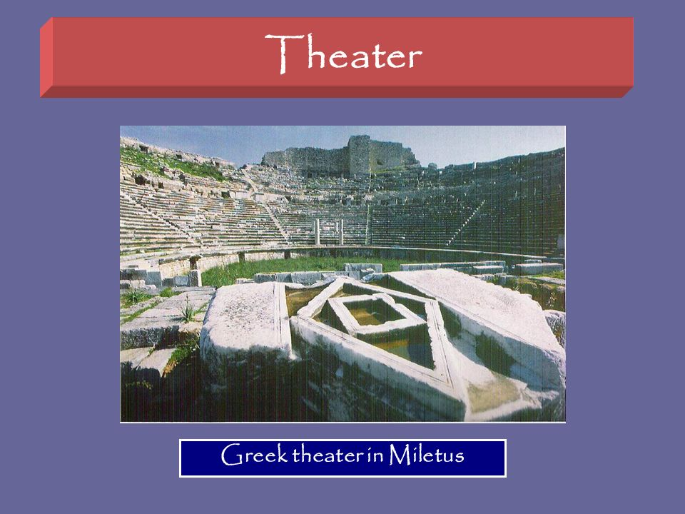 Greek theater in Miletus