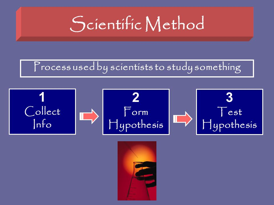 Process used by scientists to study something