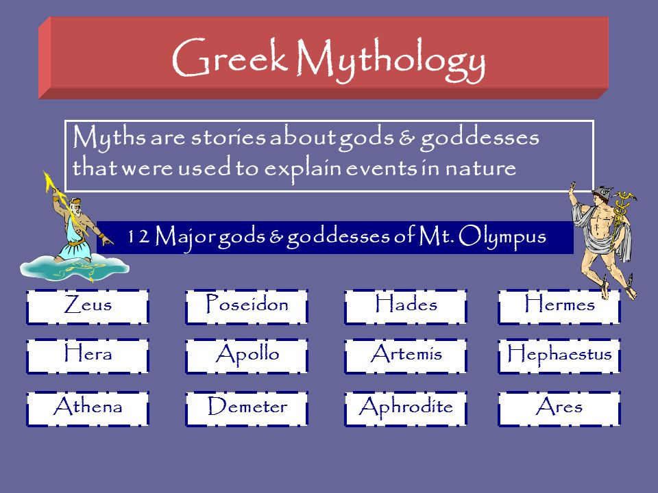 12 Major gods & goddesses of Mt. Olympus