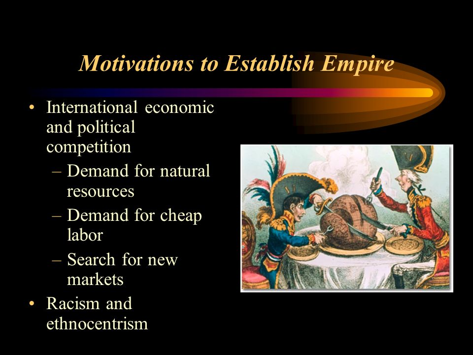 Motivations to Establish Empire