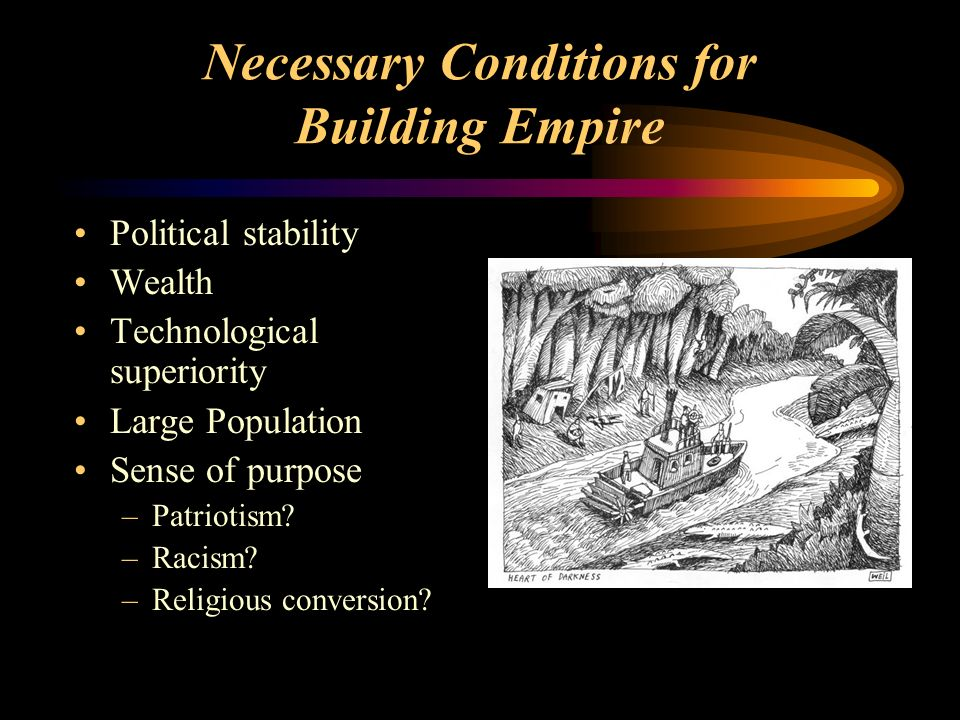 Necessary Conditions for Building Empire