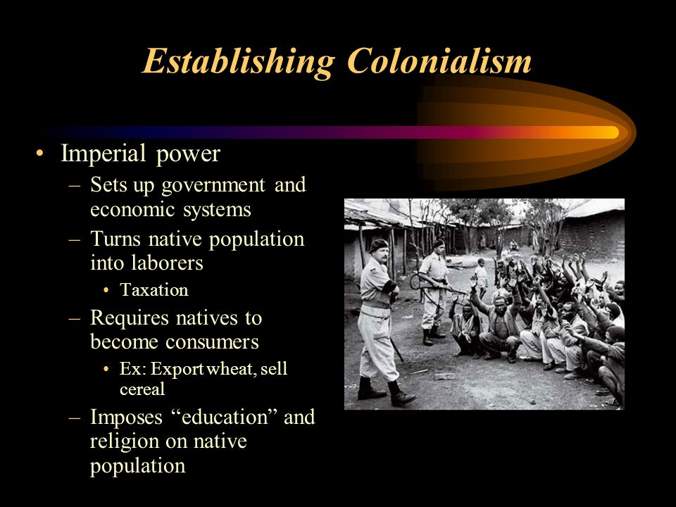 Establishing Colonialism
