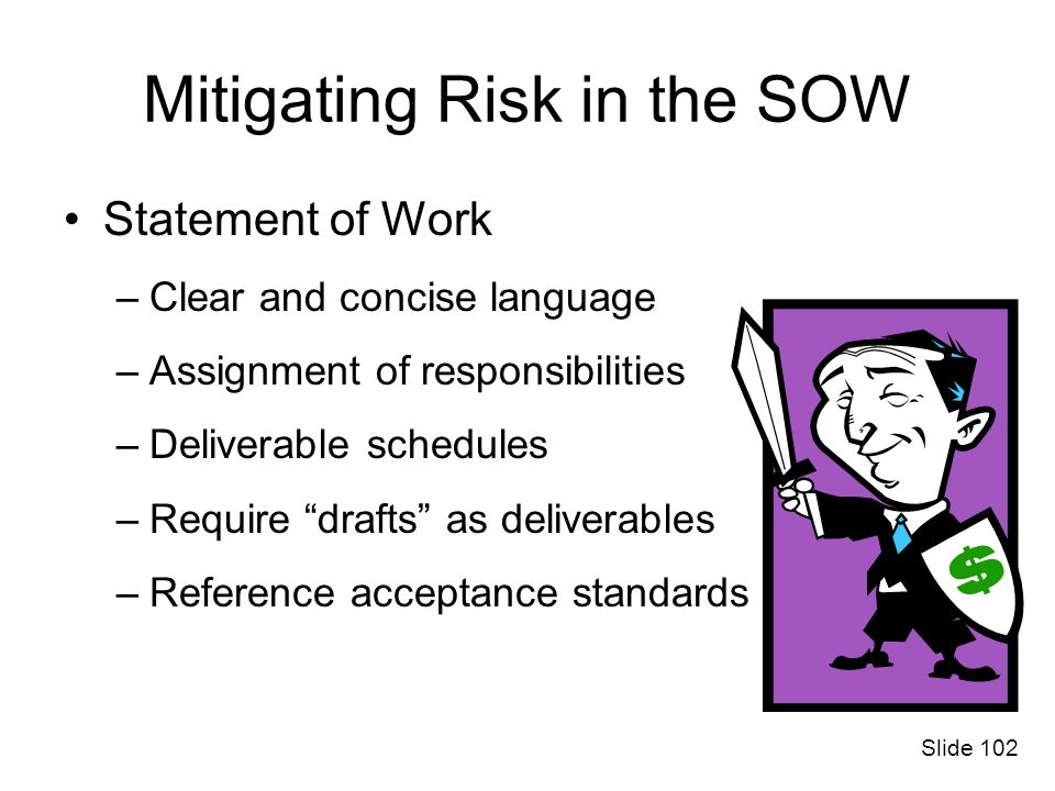 Mitigating Risk in the SOW