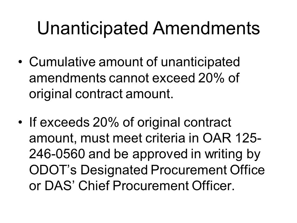 Unanticipated Amendments