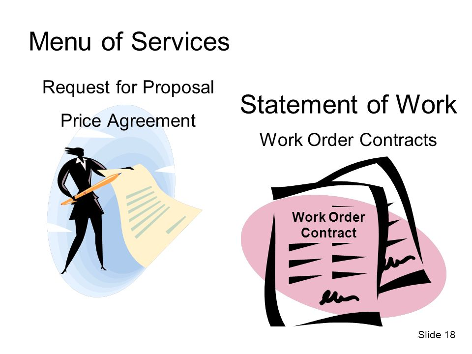 Menu of Services Statement of Work