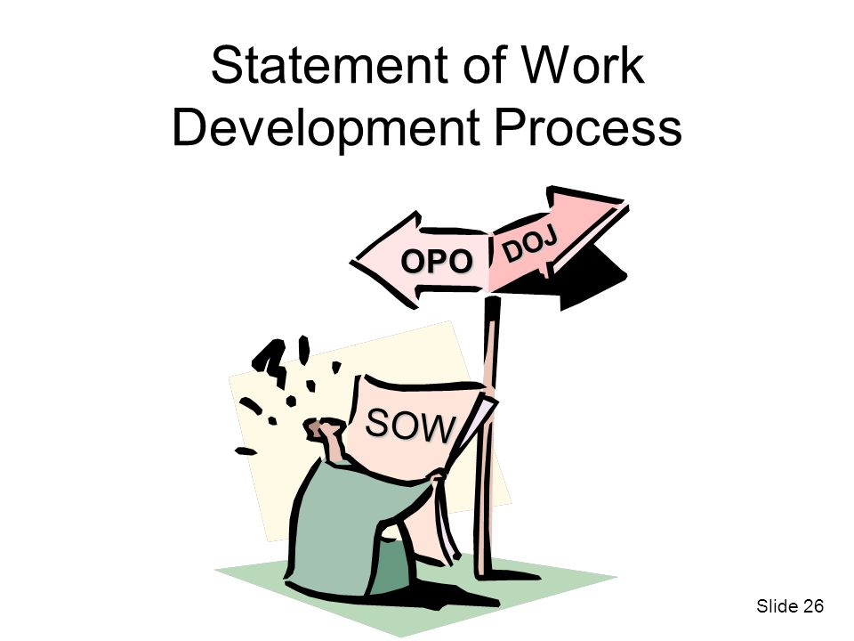 Statement of Work Development Process