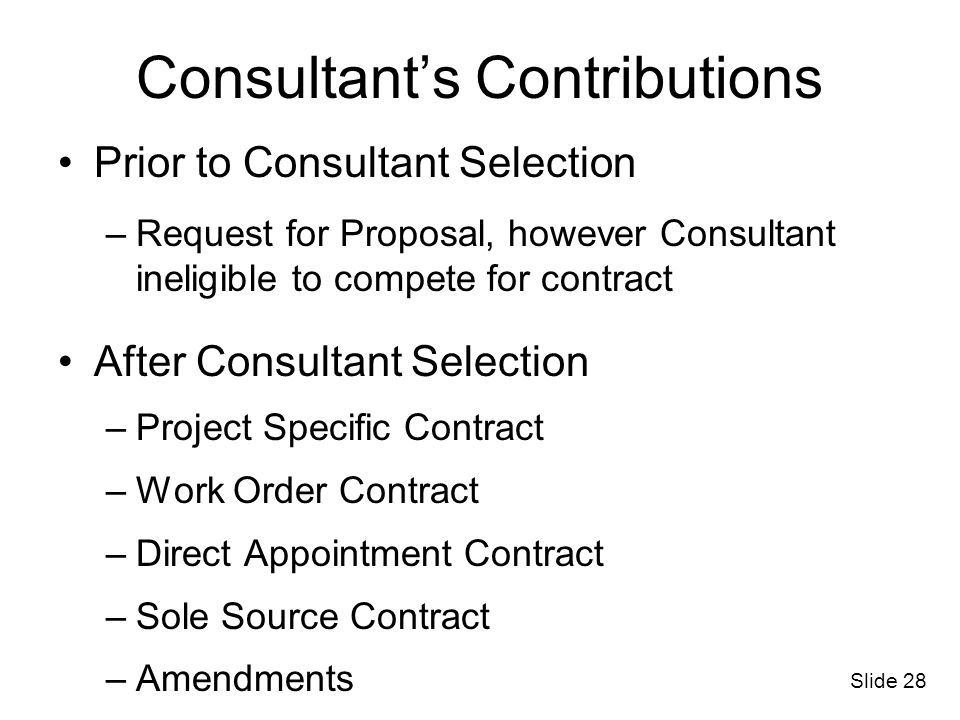 Statement Of Work For Personal Services Contracts Ppt