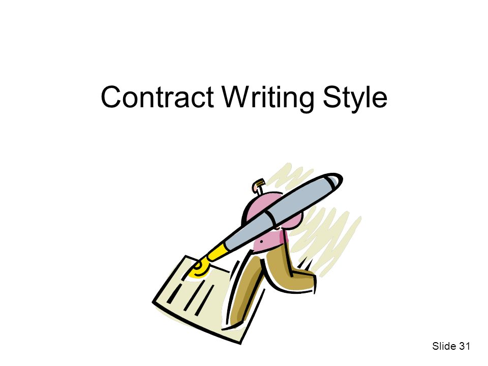 Contract Writing Style