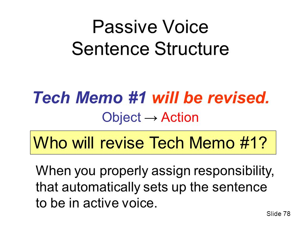 Passive Voice Sentence Structure