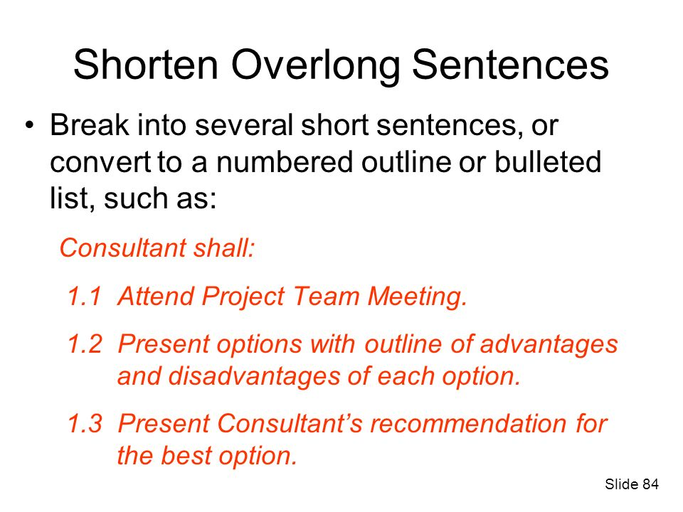 Shorten Overlong Sentences
