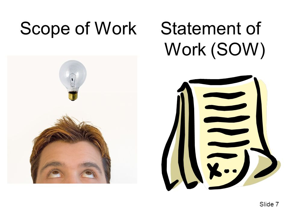 Scope of Work Statement of Work (SOW)