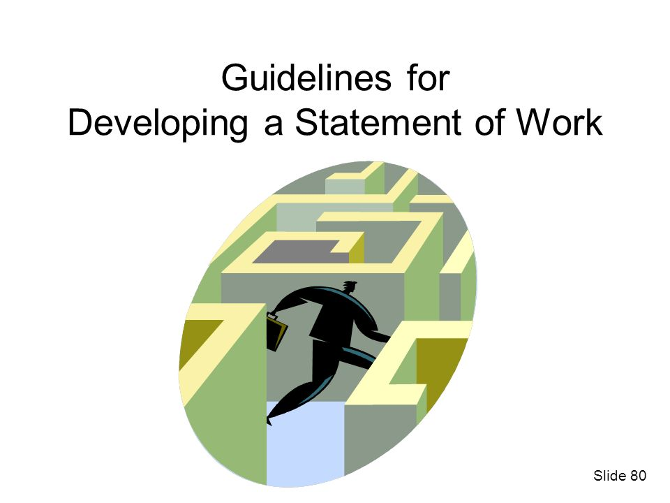 Guidelines for Developing a Statement of Work