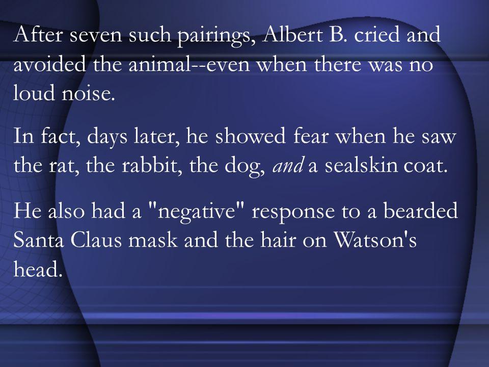 After seven such pairings, Albert B