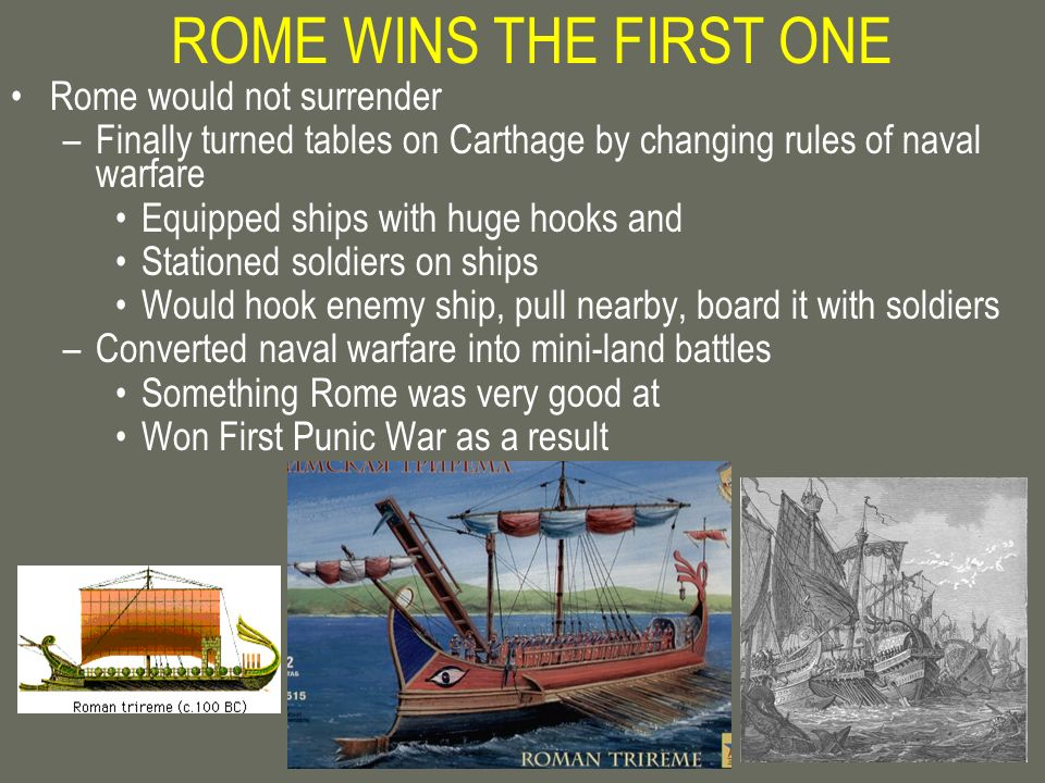 ROME WINS THE FIRST ONE Rome would not surrender