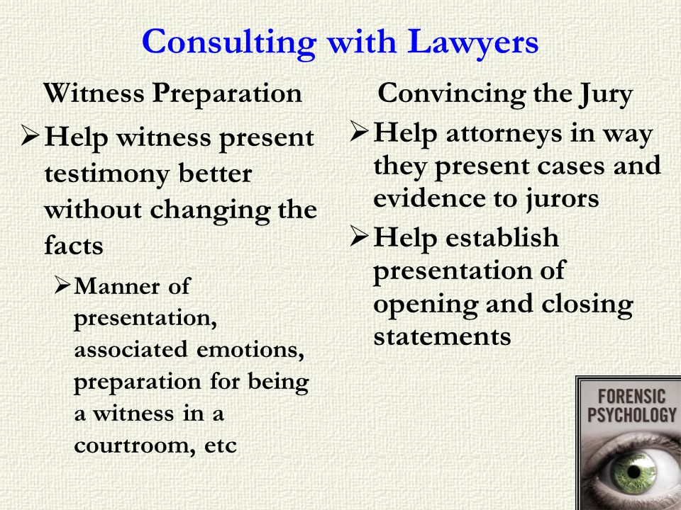 Consulting with Lawyers