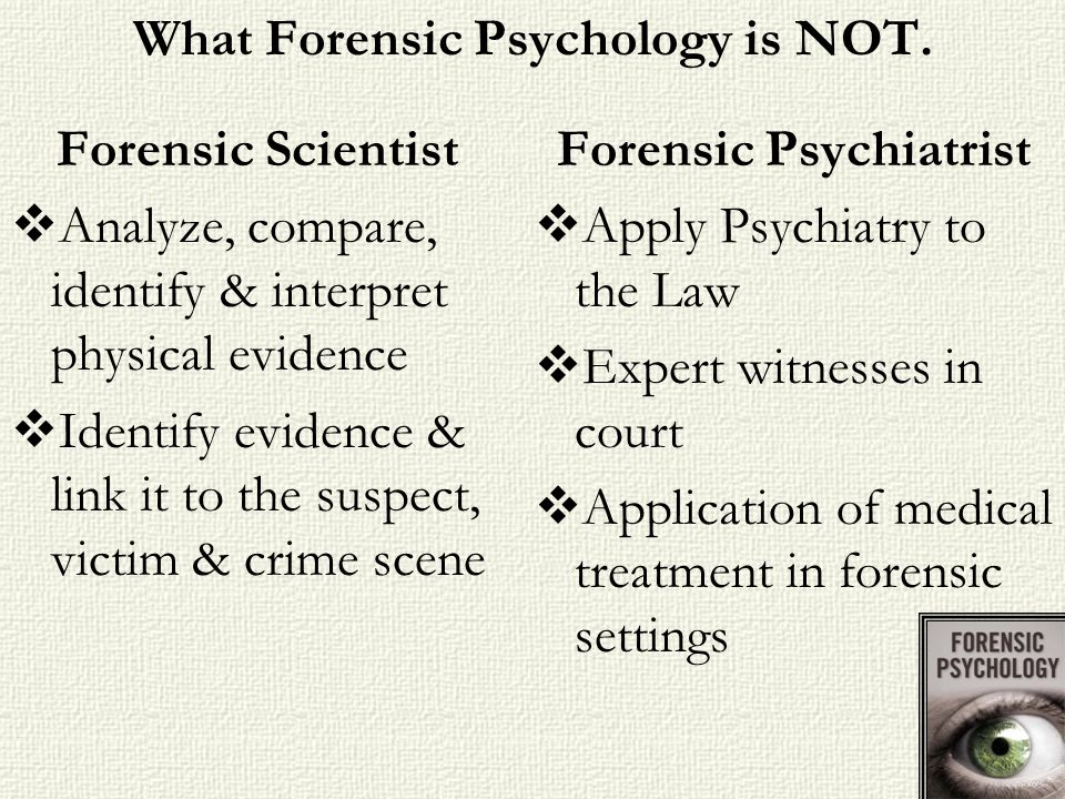 What Forensic Psychology is NOT.