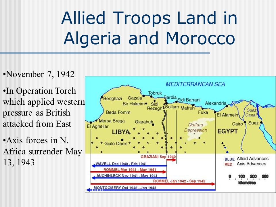 Allied Troops Land in Algeria and Morocco