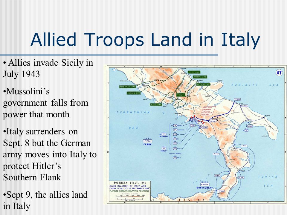 Allied Troops Land in Italy