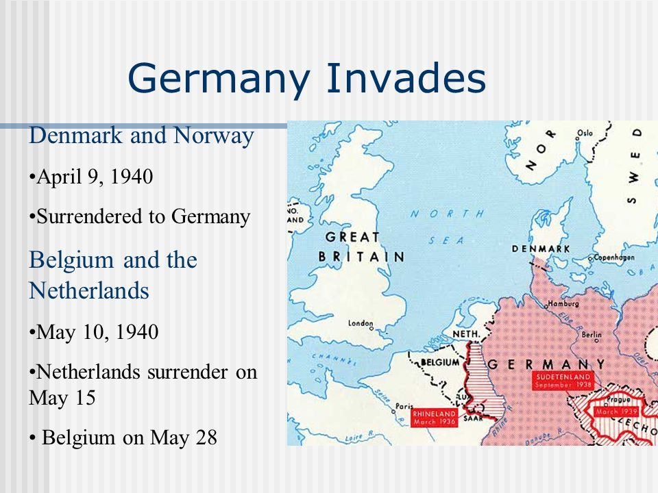 Germany Invades Denmark and Norway Belgium and the Netherlands