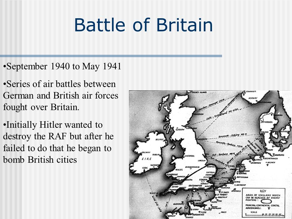 Battle of Britain September 1940 to May 1941