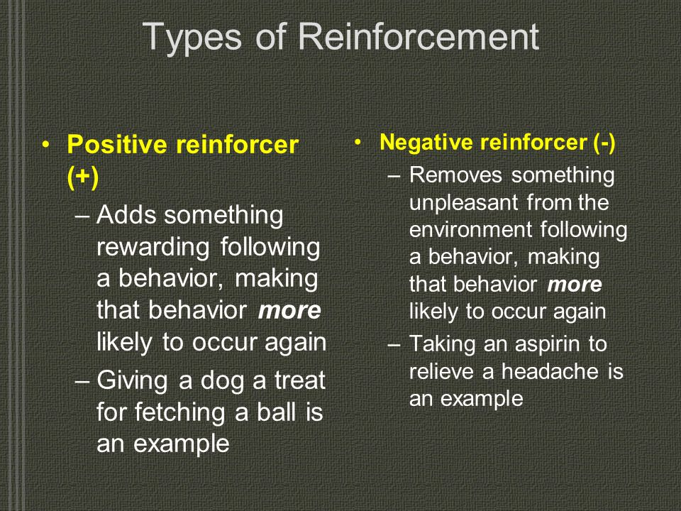 Types of Reinforcement