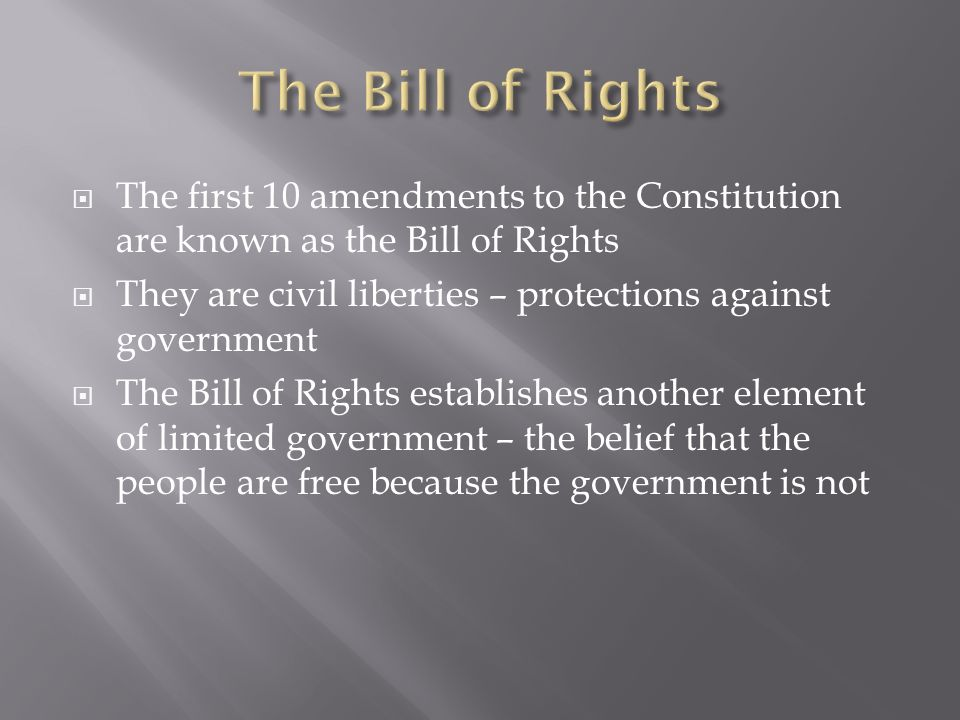 was the constitution created to protect The constitution created the federal government and delegated to it limited powers  the purpose of the constitution  government created to protect your rights should have no goal higher than the protection of those rights.