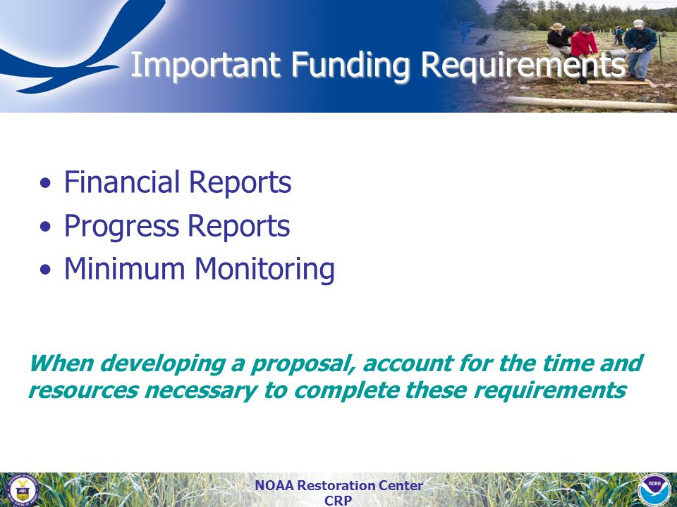 Important Funding Requirements