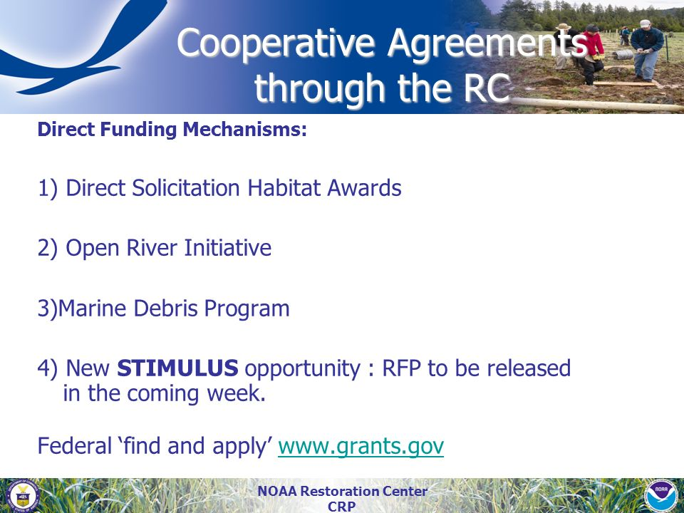 Cooperative Agreements through the RC
