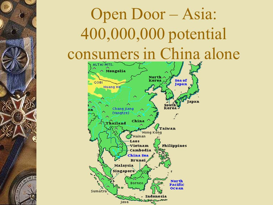 Open Door – Asia: 400,000,000 potential consumers in China alone