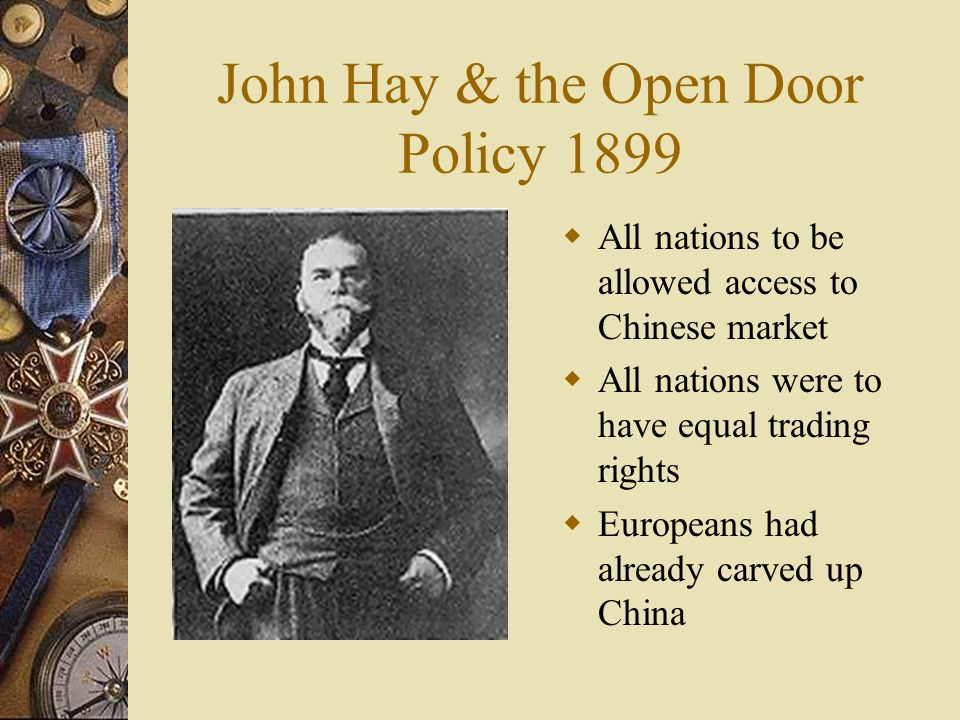 america s open door policy with china beginning in 1899 Start your free trial to access review the corresponding lesson titled the open door policy with china: discusses hay's open door policy including the open.