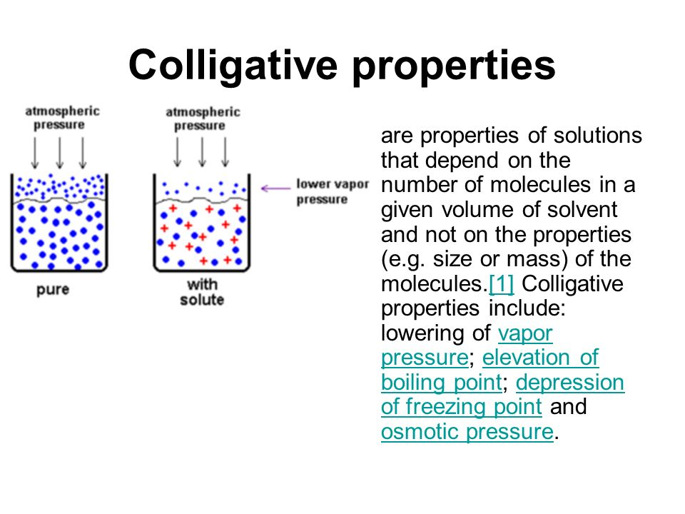 colligative properties and osmotic pressure lab report