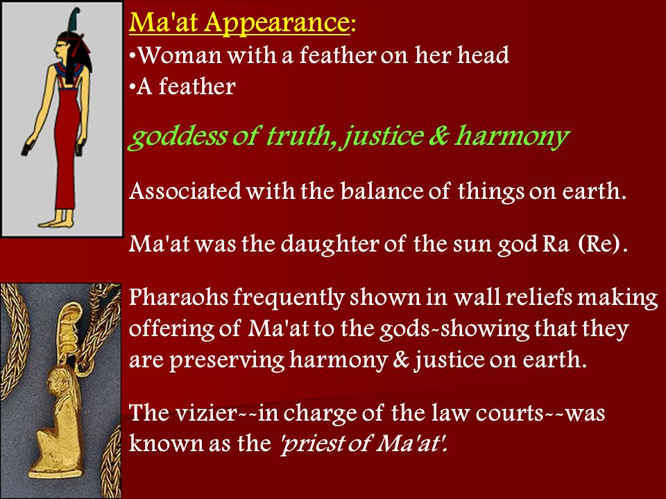 goddess of truth, justice & harmony