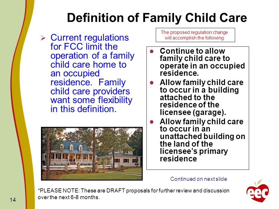 Definition of Family Child Care