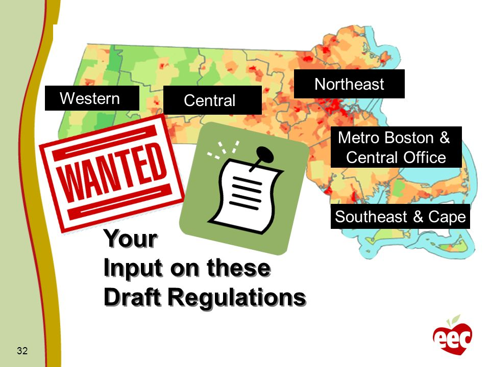 Your Input on these Draft Regulations Northeast Western Central
