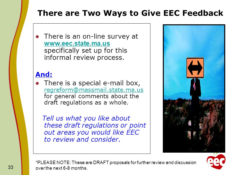 There are Two Ways to Give EEC Feedback