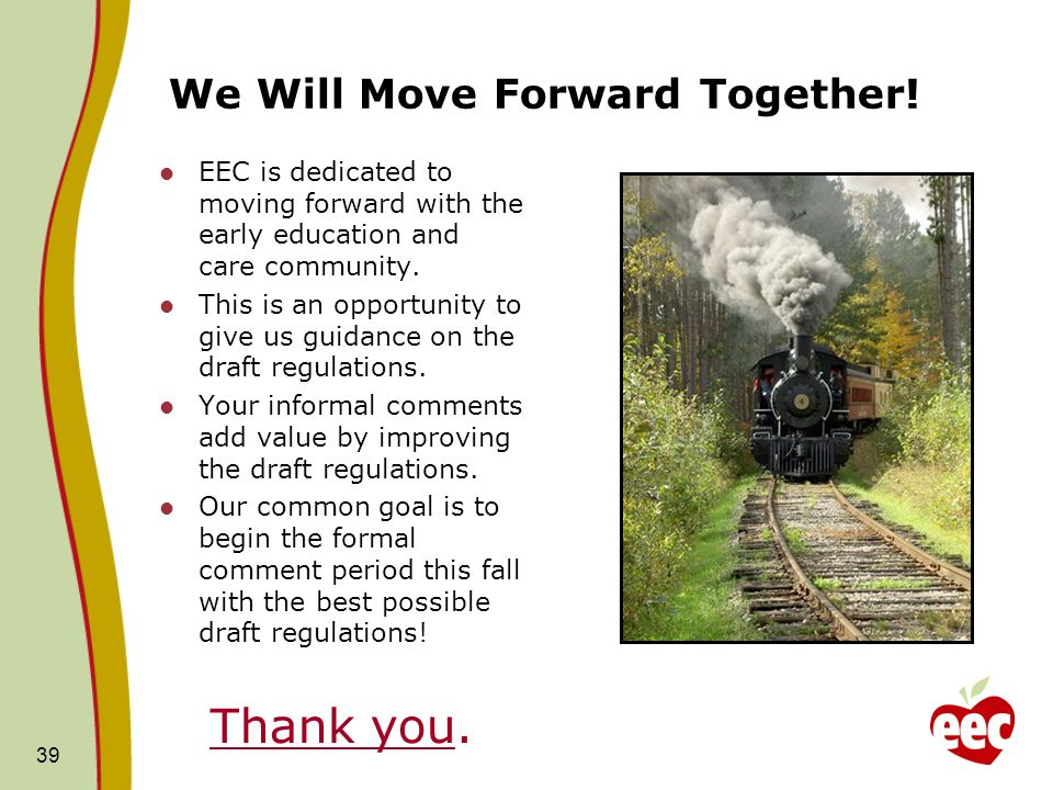 We Will Move Forward Together!