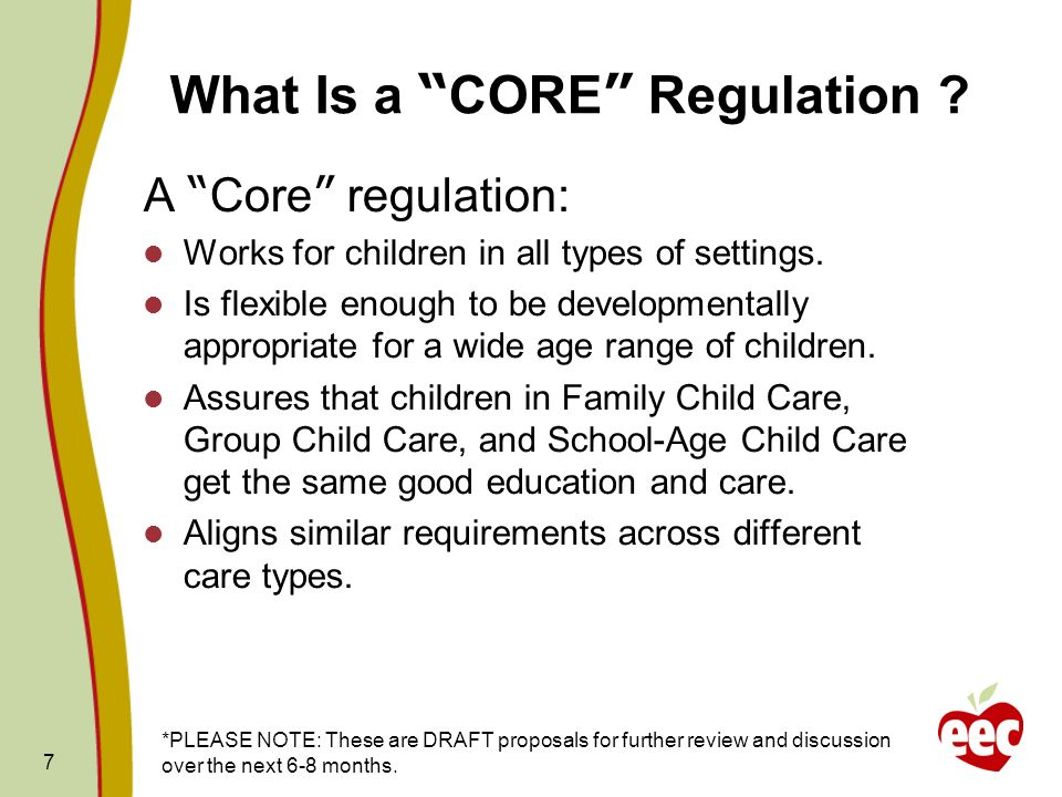 What Is a CORE Regulation
