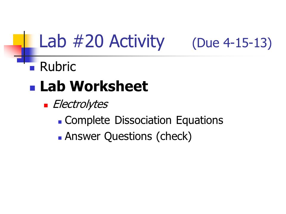 lab 24 write up due rubric your report lab worksheet ppt video online download. Black Bedroom Furniture Sets. Home Design Ideas