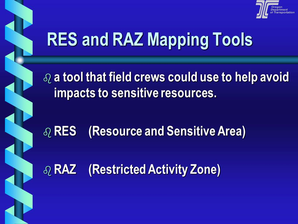 RES and RAZ Mapping Tools