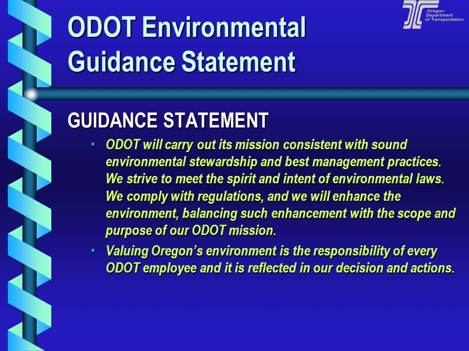 ODOT Environmental Guidance Statement