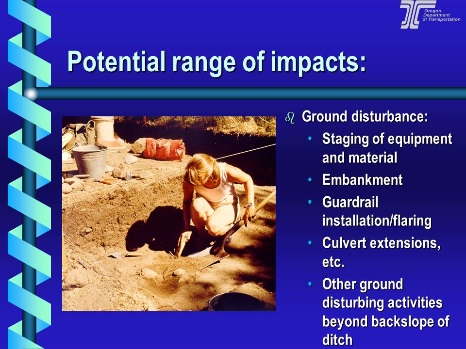 Potential range of impacts: