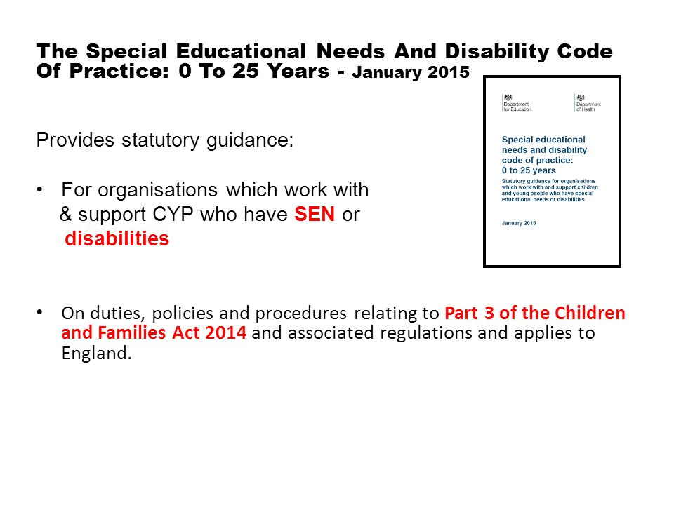the special needs and disability act There are 13 categories of special education as defined by the individuals with disabilities education act (idea) in order to qualify for special education, the iep team must determine that a child has one of the following.
