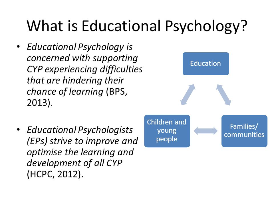 what is educational psychology The educational psychology program in virginia tech's school of education  offers graduate programs to prepare educational psychologists for a variety of  roles,.